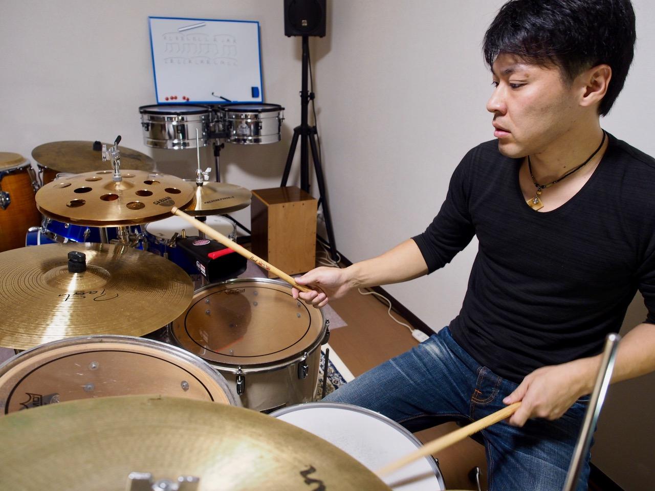 西村ドラム・パーカッション教室豊中のドラムレッスン